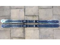 Nordica Supercharger twin tip ski fitted with Dynastar Trouble Jib bindings centre mounted