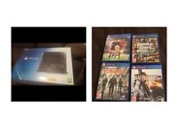 PS4 500GB 1 controller +4GAMES