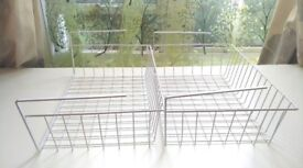 FOR SALE: Two (2) Metal Under Shelf Racks – Adds Additional Storage - Great for all kinds of items.