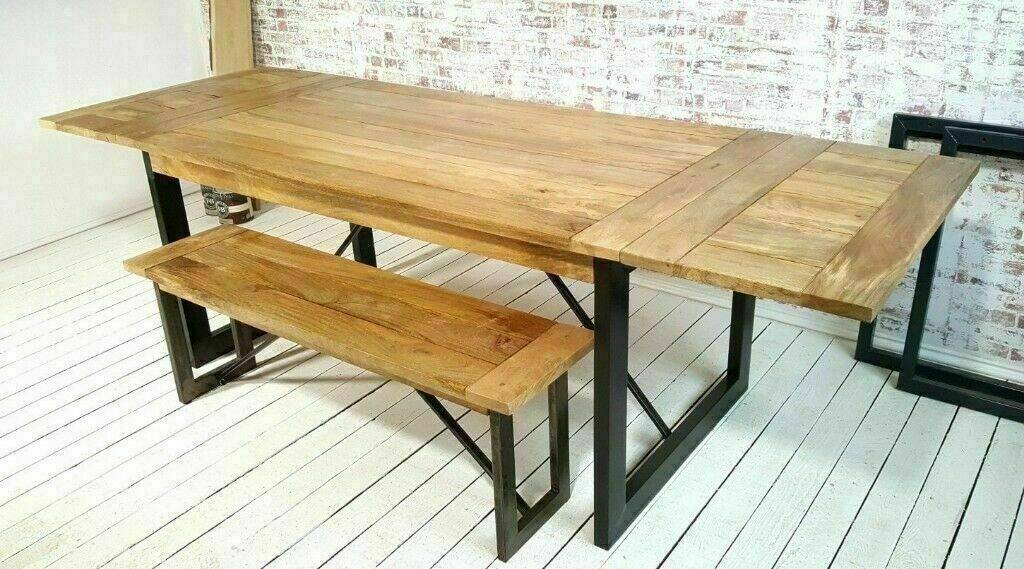 Dining Table Oak Style Extendable Rustic Hardwood Seats Up To 12 With Without Benches In Kennington Kent Gumtree