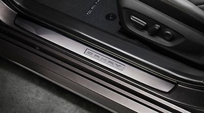 Door Steel Kick Plate (GENUINE TOYOTA Camry 18-19 Door Sill Protectors kick plate Stainless Steel)