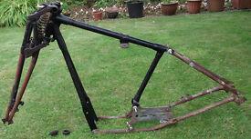 BSA Frame & Girder forks 1930 B4 250cc Banbury run eligible