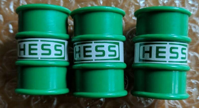 1987 Hess Truck Barrels set of 3 very nice pre-owned