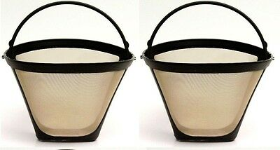2 Pack for Cuisinart GTF-C #4 Gold Tone Permanent Replacement Coffee Filter  Cuisinart Gold Tone Coffee Filter