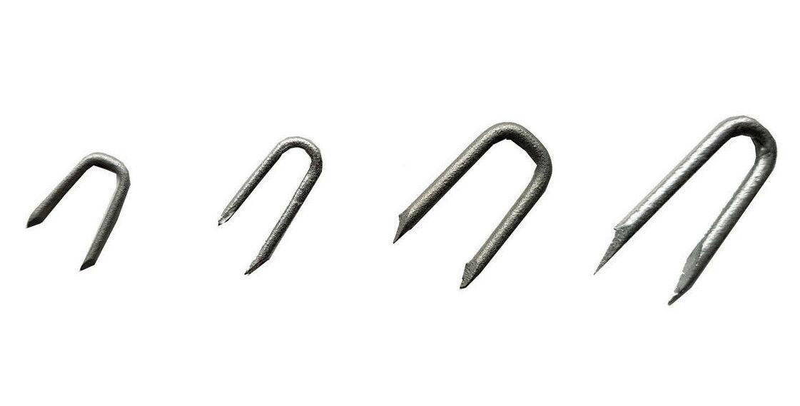 40 Stk.Krampen,Schlaufen 1,6 3,5mm Nägel Eisen Krampe Drahtstifte Zaun DIN1159