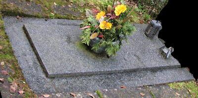 Granit Grab - Abdeckplatte und Umrandung - SELBSTABHOLUNG