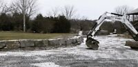 Armour Stone, Rock or Wood RETAINING WALL INSTALL