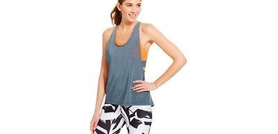 Nike Womens Tank  Medium Dri Fit Sports Bra Top Loose Gray/Orange Training