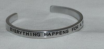 Everything Happens For A Reason       Handmade   Polished Bracelet
