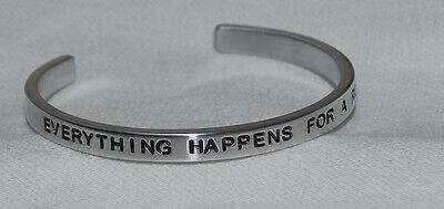 Everything Happens For A Reason       Handmade   Polished Bracelet
