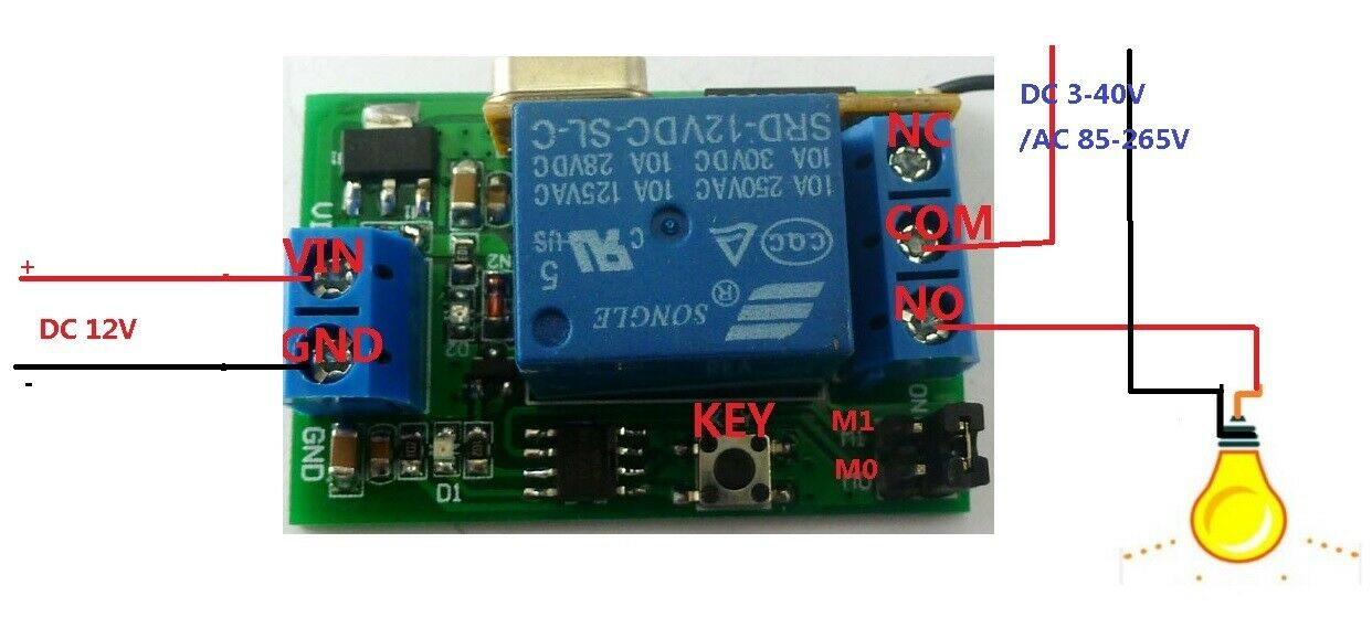 Details about DC 12v Relay Wireless Remote Control RF Switch On/off on
