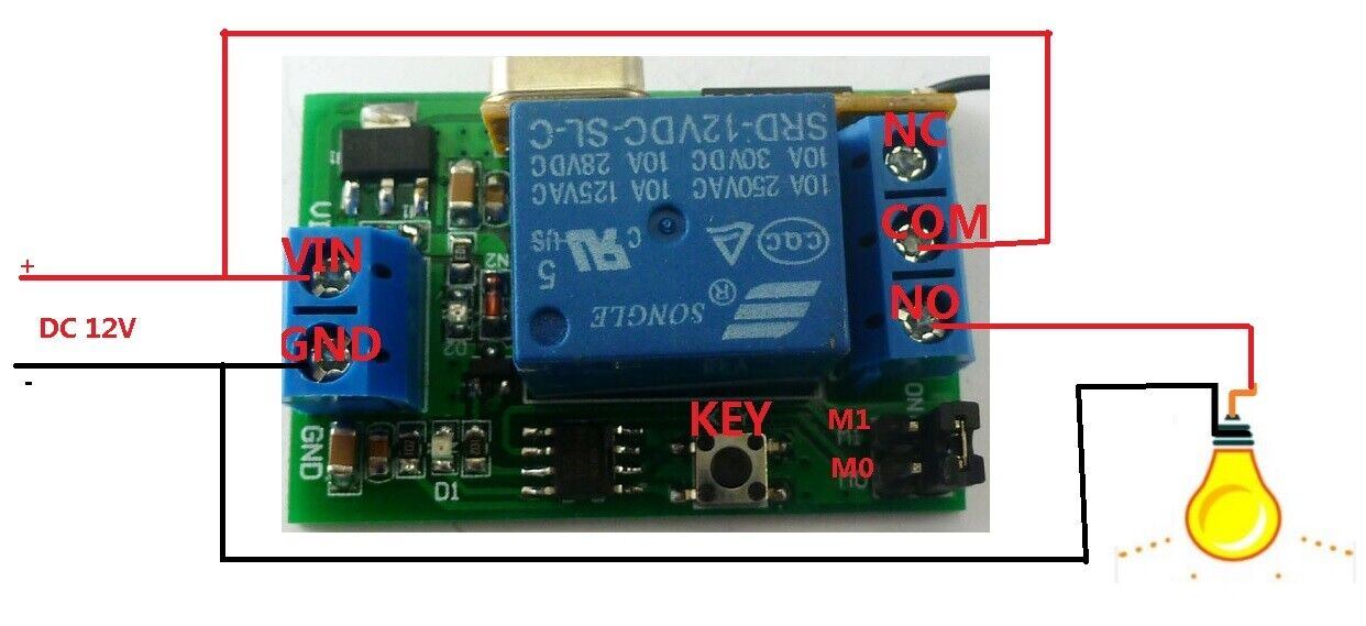 Details about 12V 433MHz Transmitter Control Delay Relay Receiver Kits  Wireless Bulb System