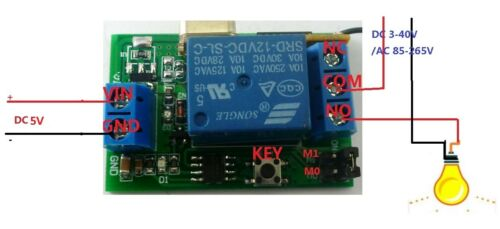 Dc 5v Relay Wireless Remote Control Rf Switch On  Off