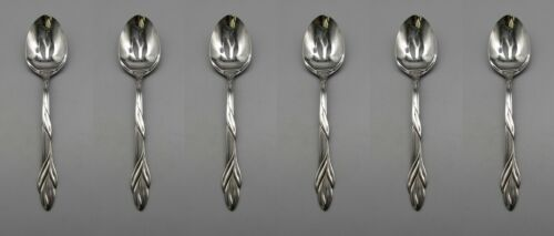SET OF SIX - Oneida Stainless Flatware EDEN Slotted Serving Spoons USA