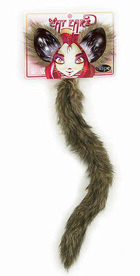 Fox Kitty Cat Ears & Tail Adult Child Kids Costume Accessory Kit Elope ](Baby Cat Ears Halloween)
