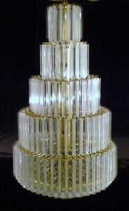 SUBSTANTIAL-LUCITE-ACRYLIC-WEDDING-CAKE-349-PRISM-BALL-CHANDELIER