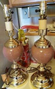 Pink Ceramic Table Lamps for Living Room or Bedroom side tables