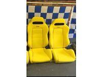 Genuine yellow recaro seat, (civic,integra,dc2,dc5,eg6,ep3)