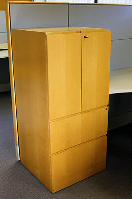 Knoll Reff Genuine Maple All Wood Lateral File 2-shelf Storage Cabinet 4x2x2