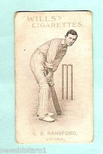 AUSTRALIAN-ENGLISH-CRICKETERS-CIGARETTE-CARD-1911-12-21-V-S-RAINSFORD