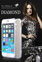 IPHONE 6 / IPHONE 6 PLUS LUXURY CRYSTAL DIAMOND METAL BUMPER