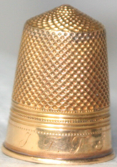 ANTIQUE c.1900 18kt Gold tested THIMBLE~from EUROPEAN Estate
