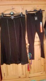BNWT Linen skirt (size 14) and leggings (size 8)