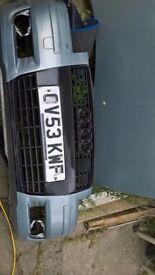 audi a3 1.6 bonnet, bumper, doors, ecu, slam panel, alternator, cat,