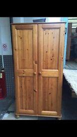 1 x Ducal Pine Wood Wardrobe