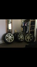 "3 month old bolla 18"" alloy wheels"