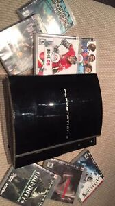 playstation 3 / ps3 with 2 controllers and at least 10 games