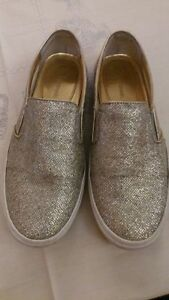 Michael kors Silver sparkle pull on