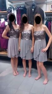 Selling 4 matching bridesmaid/formal/prom dresses