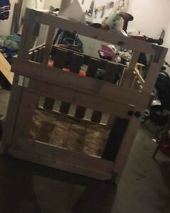 4 x 4 handmade wood x large dog kennel