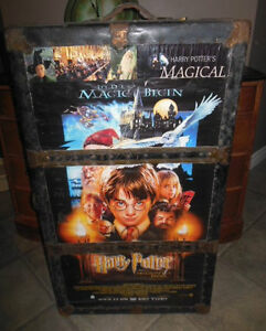 Large old trunk with Harry potter theme