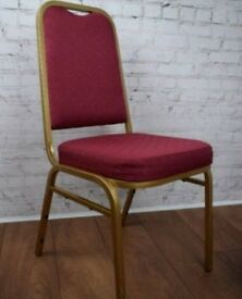 150x Used Red & Gold Banqueting chairs Good Condition