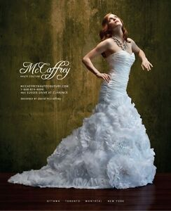 McCaffrey Haute Couture Wedding Gown, Size 4-6