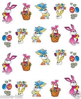 One Stroke Sticker, Ostern, Osterhase, Osterkorb, Ei, Tattoo, Aufkleber  Nr.1470
