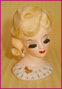 Head Vase  Napco Elegant Little Vintage  Pretty Lady Belleville Belleville Area image 1