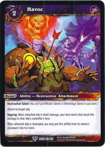 Details about WORLD OF WARCRAFT WOW TCG REIGN OF FIRE : HAVOC X 4