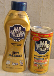 Bar Keepers Friend COMBO Powder+Soft Cleanser TOTAL 41 oz ~NEW~