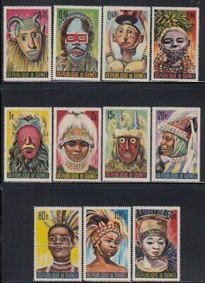GUINEA Traditional Masks & Costumes MNH set