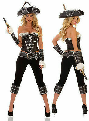 Starline/Trashy T1073 Sexy Starline Rogue Pirate Pants & Corset 4pc Costume Sz L (Rogue Corset)