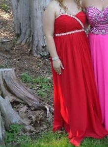 Long red evening dress for sale