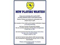 Football players needed