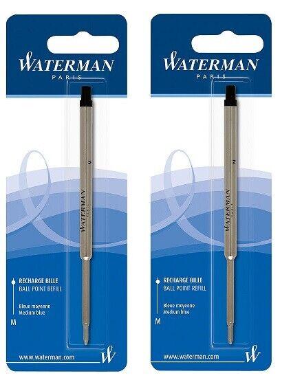 2 Packs, Genuine Waterman Ballpoint Pen Refills, Sealed Packs, Medium Point Collectibles