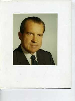 Lot of 2 Richard Nixon Presidential Photos, 1 Nixon First Day Cover
