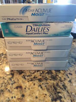 1 Day Acuvue Moist 90 Pack  & Focus Dailies Contact Lens (-1.00)