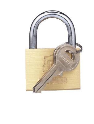 Genuine Brinks 50 Mm 2 Inch Solid Brass Padlock Weather Resistant Security Lock