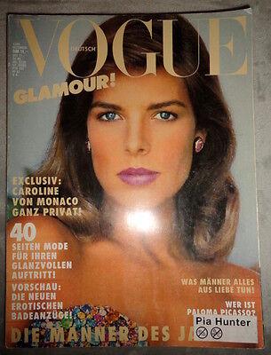 Vtg Vogue Deutsch 1985 Princess Caroline Monaco Irving Penn Helmut Newton Sting